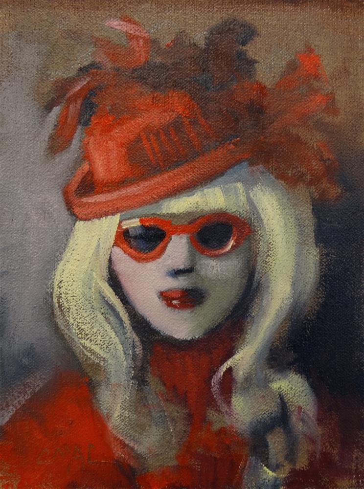 """Red"" original fine art by Carolyn McDonald"
