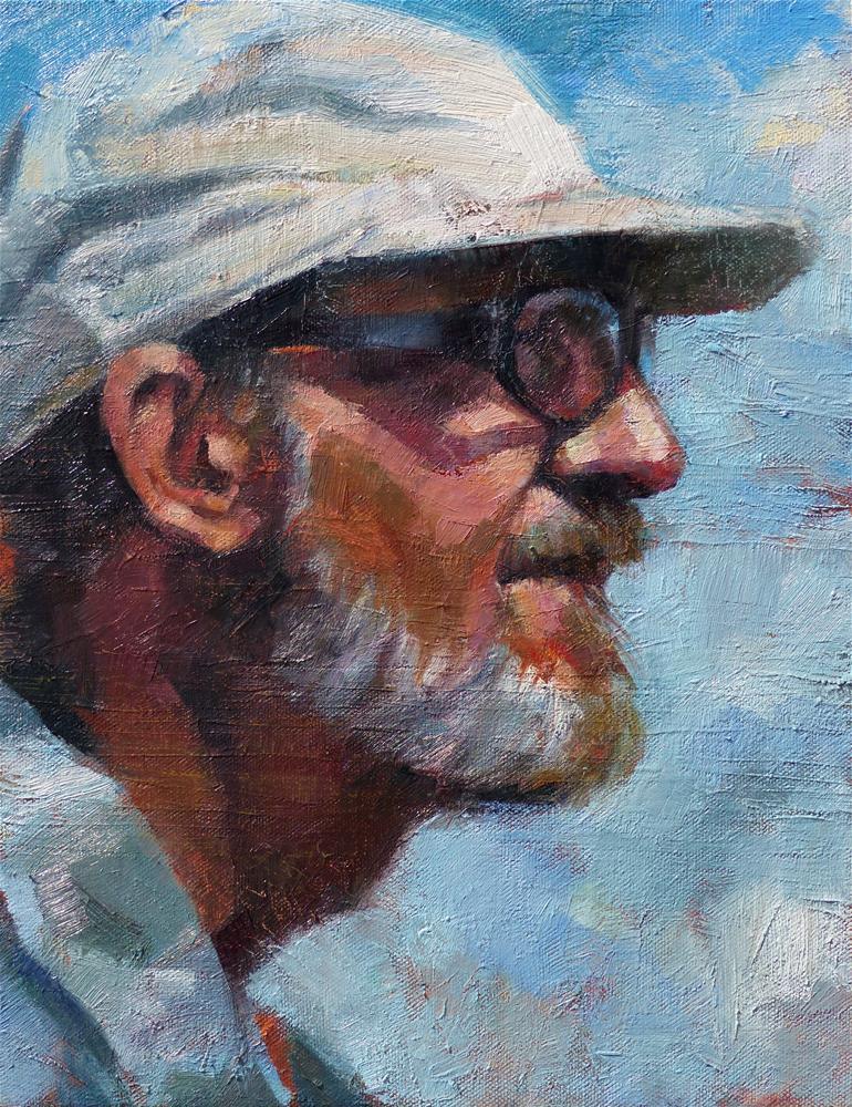 """Portrait of Jim McVicker"" original fine art by Katya Minkina"