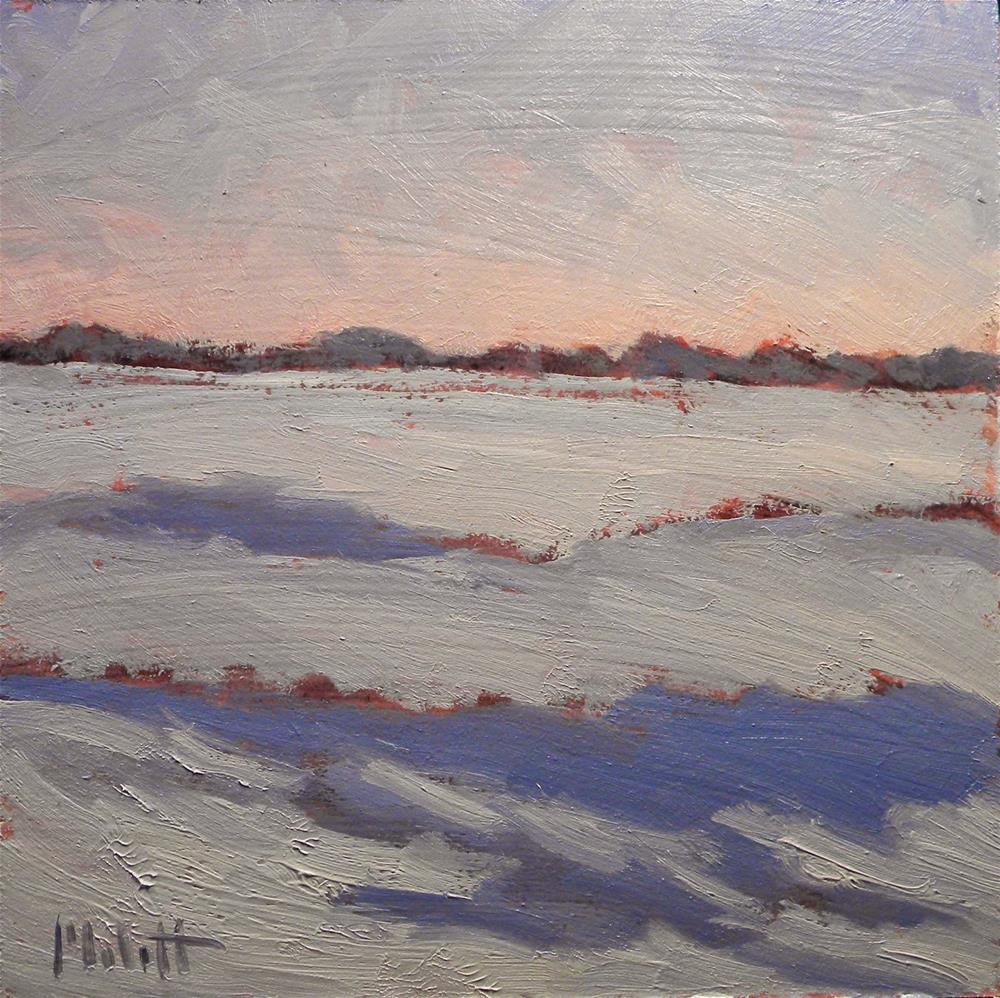 """Snowy Sunset Winter Landscape Painting Impressionism"" original fine art by Heidi Malott"