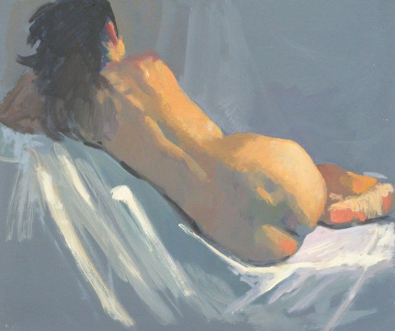 """nude back sketch"" original fine art by Peter Orrock"