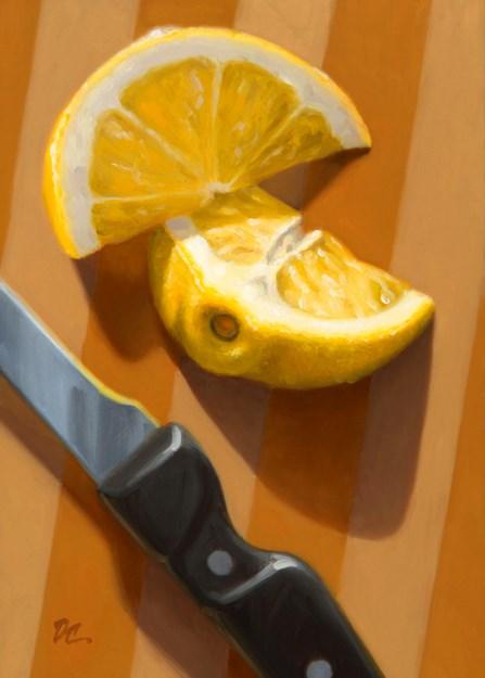 """Sliced Lemon"" original fine art by David Capalungan"