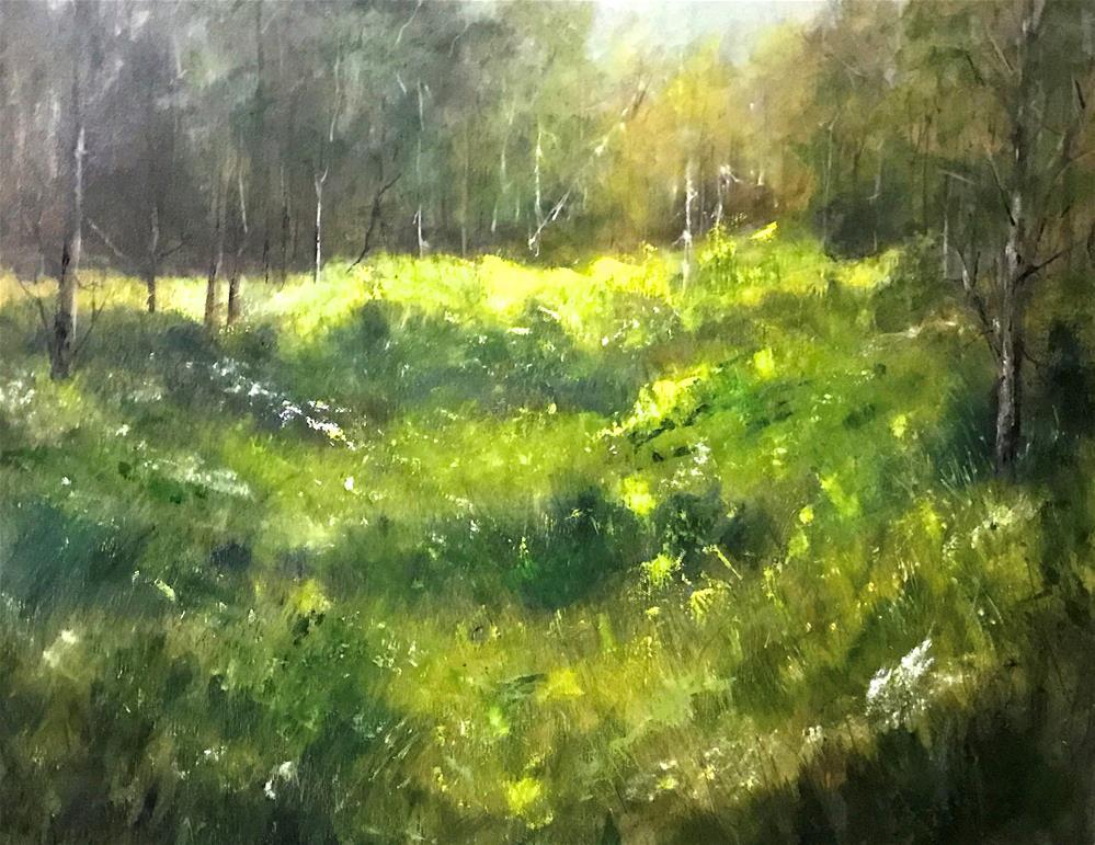 """""""wild flowers in the meadow"""" original fine art by Betty Argiros"""