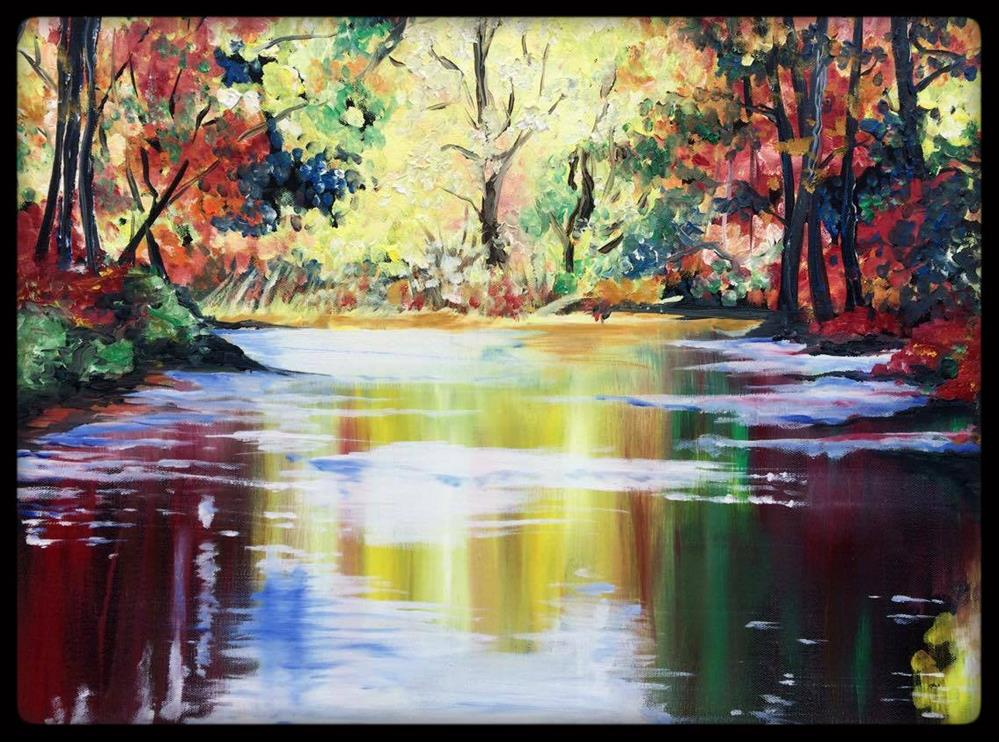"""On the Banks of Autumn"" original fine art by Kristin Rose"