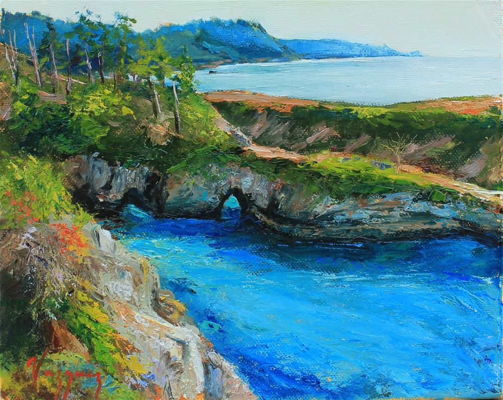 """Turquoise waters in point lobos"" original fine art by Marco Vazquez"