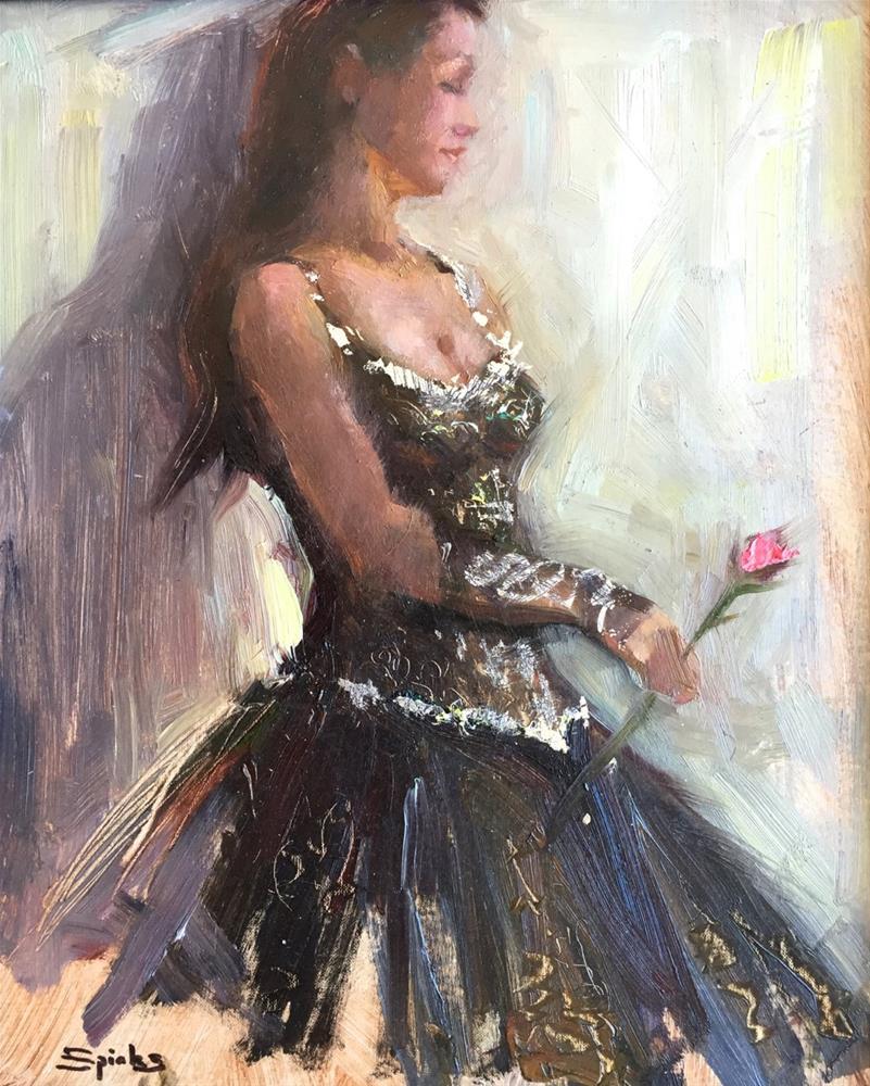 """La Vie en Rose"" original fine art by Johanna Spinks"