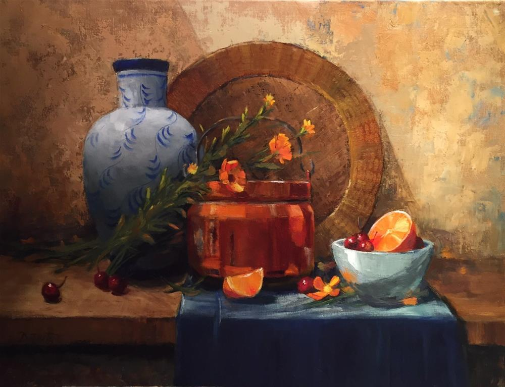"""A Happy Gathering"" original fine art by Barbara Fluty"