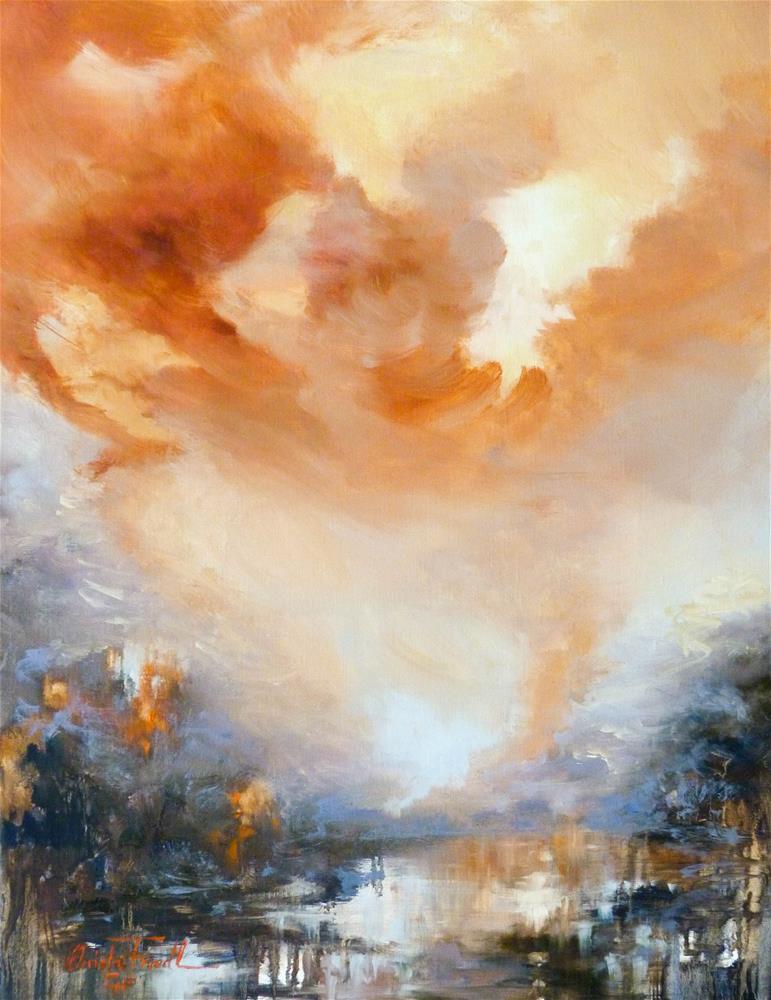 """Bushfire"" original fine art by Christa Friedl"
