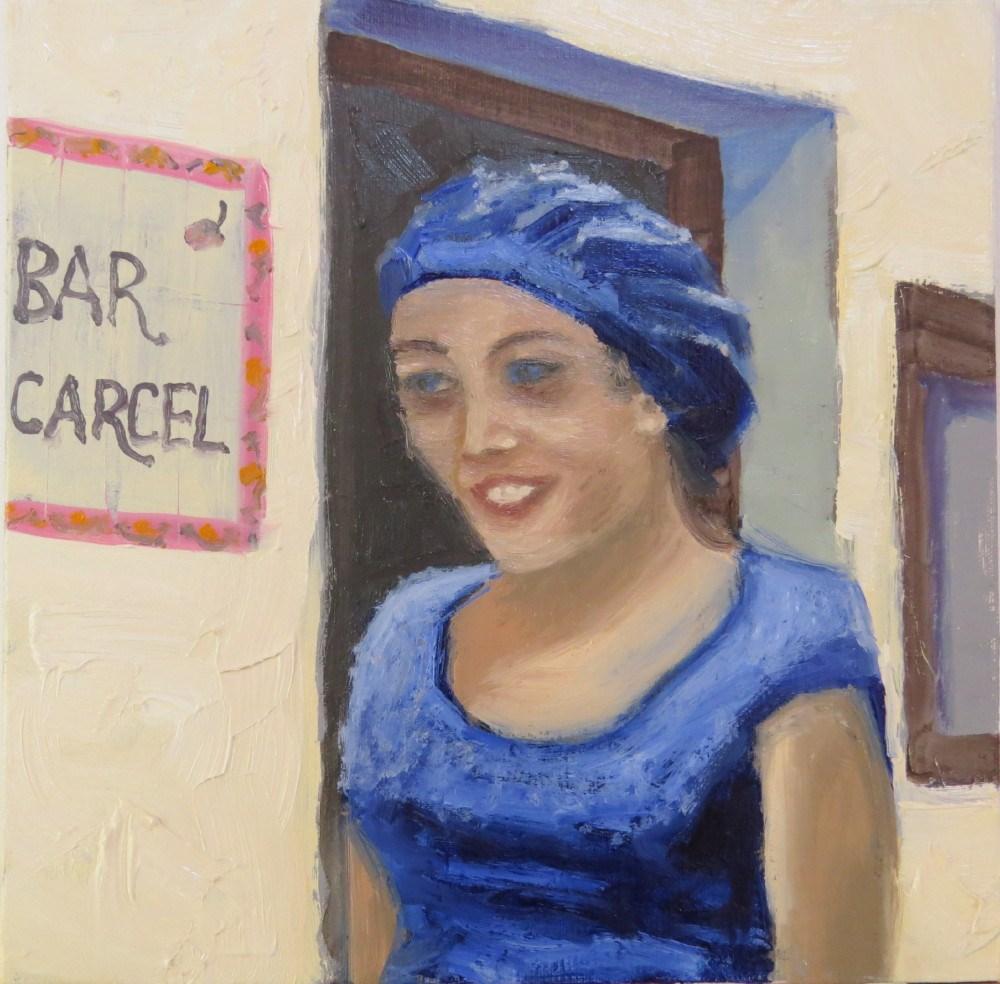"""Sous Chef in Blue"" original fine art by Richard Kiehn"