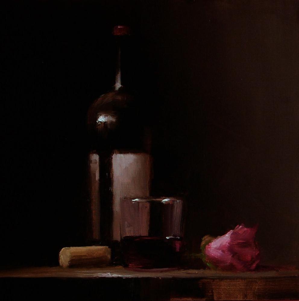 """""""Wine Lover"""" original fine art by Neil Carroll"""
