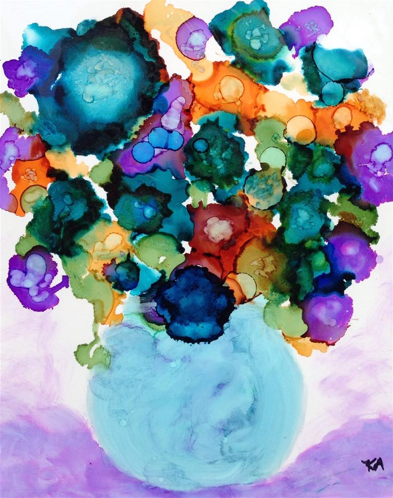 """violet swirl"" original fine art by Kris Alge"