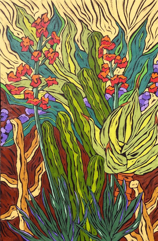 """""""Succulent Surprise"""" original fine art by Monique Straub"""