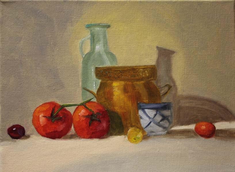 """Tomato Tango"" original fine art by Jane Frederick"