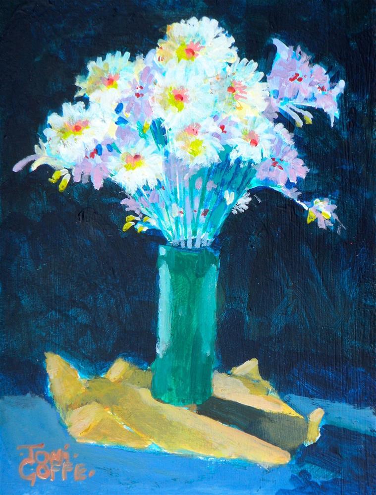 """Sunlit Daisies"" original fine art by Toni Goffe"