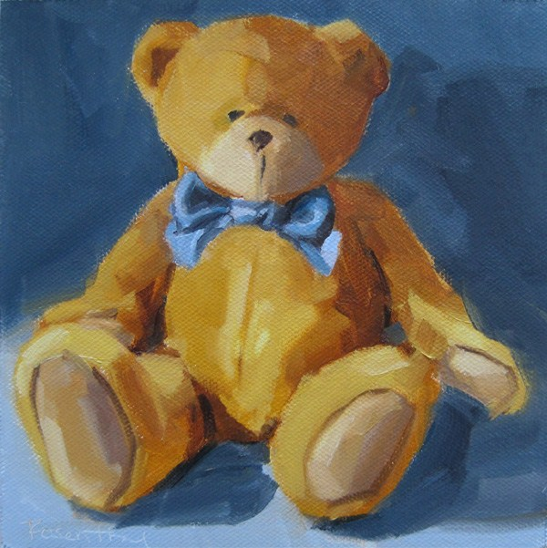 """Tradional Bear"" original fine art by Robin Rosenthal"