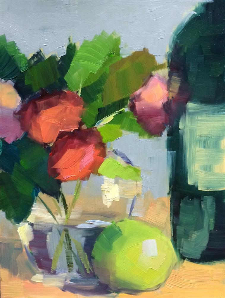 """""""Red Roses and Others"""" original fine art by Naomi Bautista"""