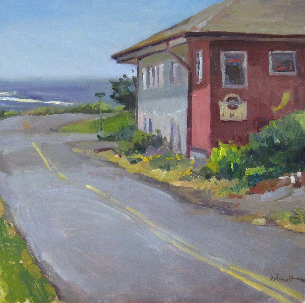 """Ocean View Drive, Yachats, Oregon"" original fine art by Sarah Sedwick"