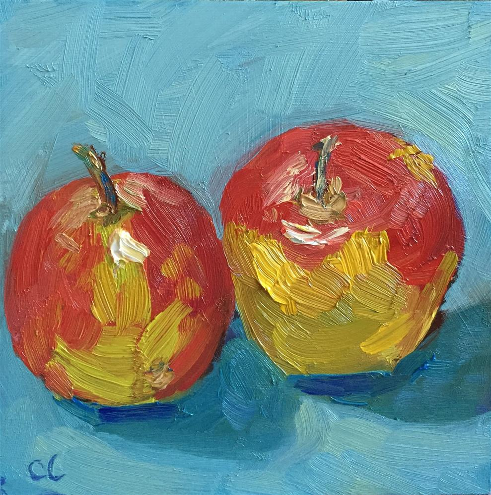 """Friendly Apples"" original fine art by Cheree Apalona Lueck"