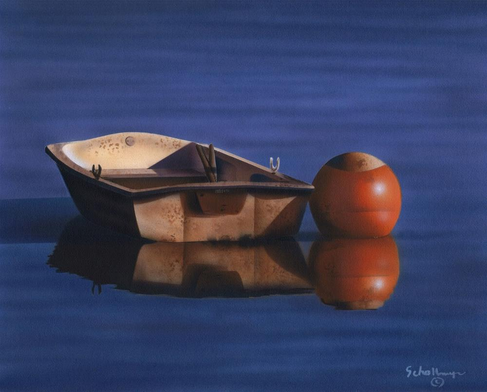 """Boat & Buoy"" original fine art by Fred Schollmeyer"