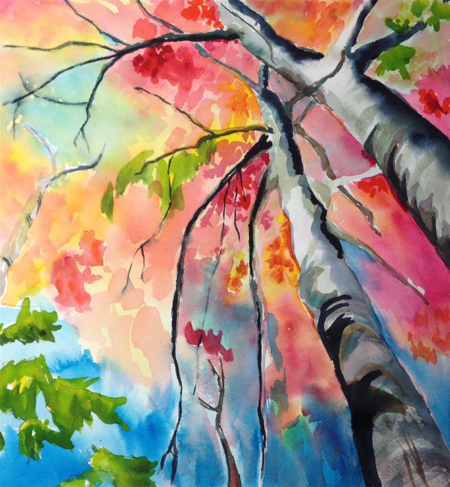 """Fall Fireworks"" original fine art by Dana Richards"