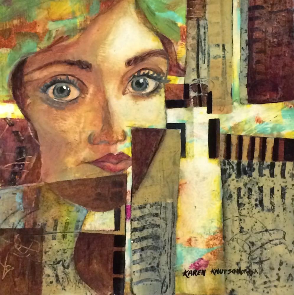 """Windows to our Soul"" original fine art by Karen Knutson"