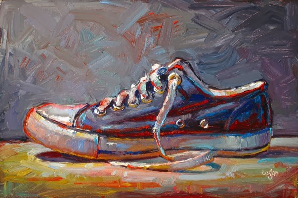 """Black Low Chuck"" original fine art by Raymond Logan"