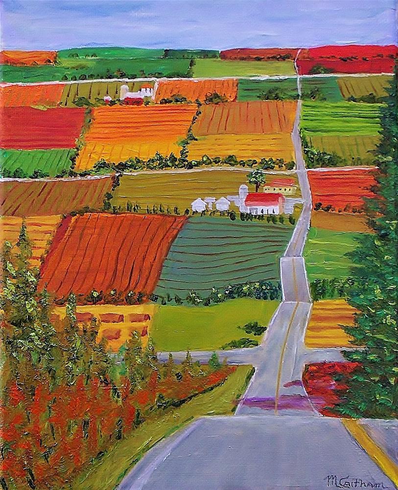"""Country Farmland Quilt"" original fine art by Mike Caitham"