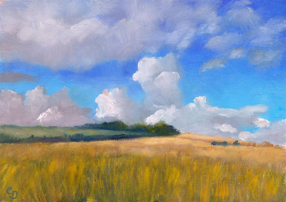 """Summer Clouds"" original fine art by Christine Derrick"