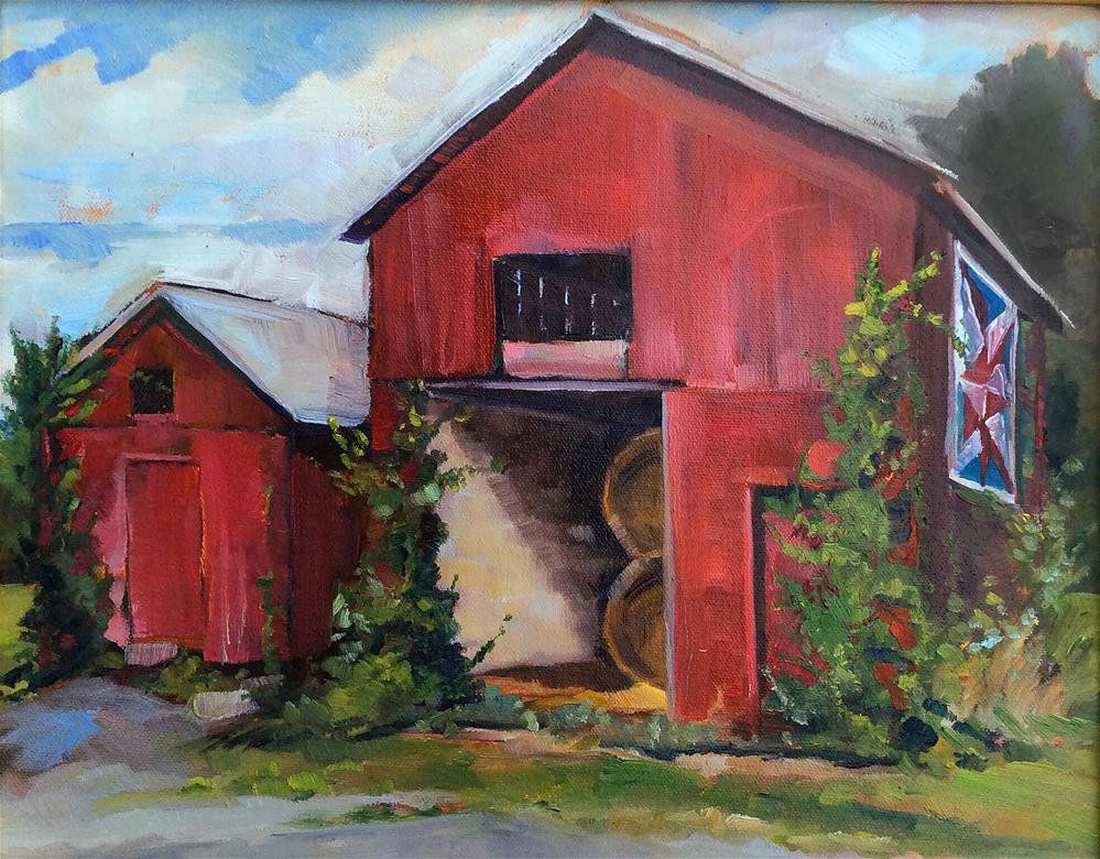 """The Hay Barn"" original fine art by Kathleen Gray Farthing"