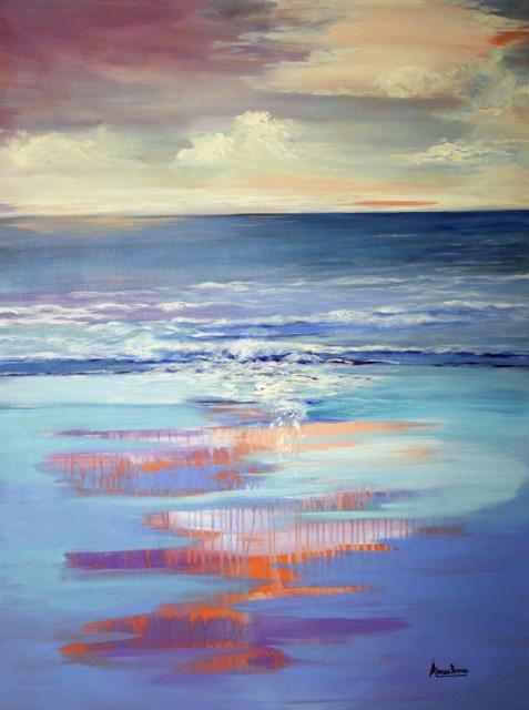 """Impressionism Seascape Painting Nature's Gentle Rhythm by International Seascape Artist Arrachme"" original fine art by Arrachme Art"
