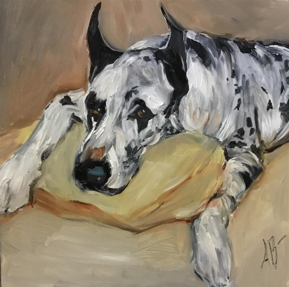 """Great Dane Spotted"" original fine art by Annette Balesteri"