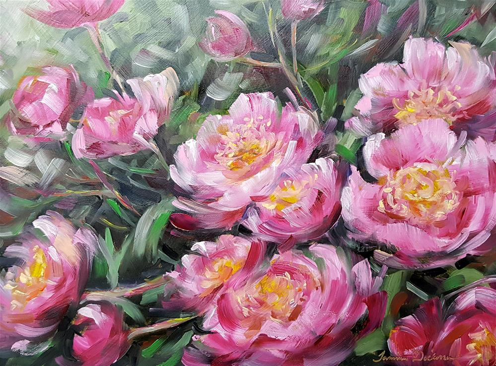 """Passionate Peonies"" original fine art by Tammie Dickerson"