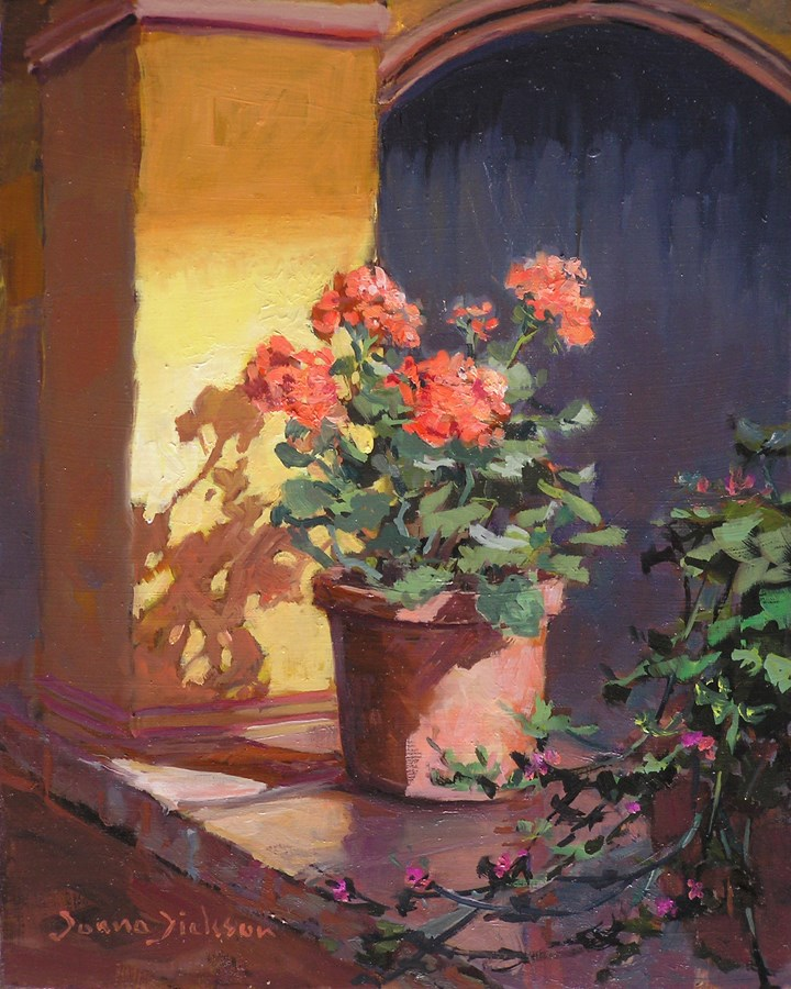 """Flowers and Shadows"" original fine art by Donna Dickson"