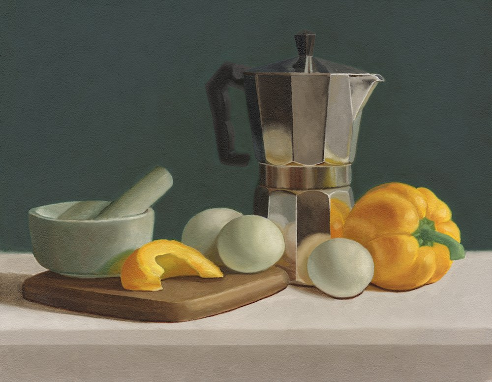 """Still Life with Yellow Bell Pepper"" original fine art by Susan Fern"