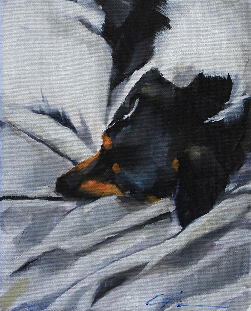 """Frida Sleeping"" original fine art by Clair Hartmann"