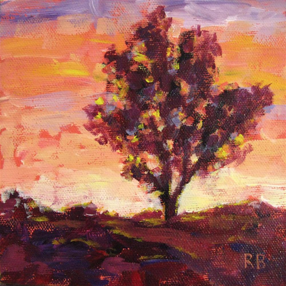 """Vibrant Tree XI"" original fine art by Robie Benve"