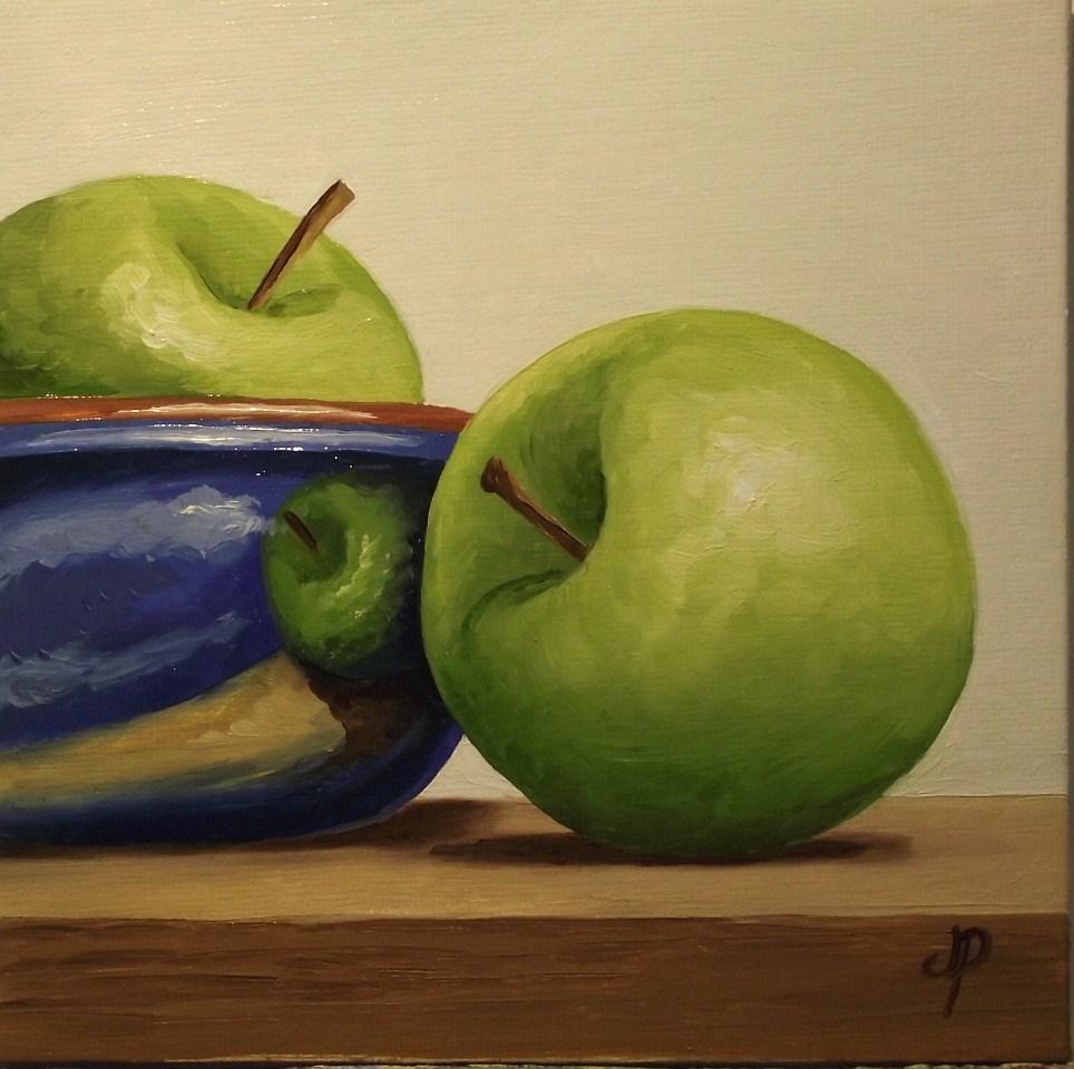 """Apple bowl"" original fine art by Jane Palmer"