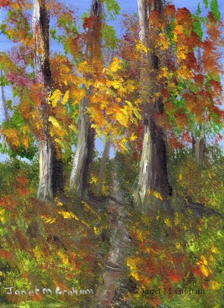 """""""Autumn ACEO"""" original fine art by Janet Graham"""