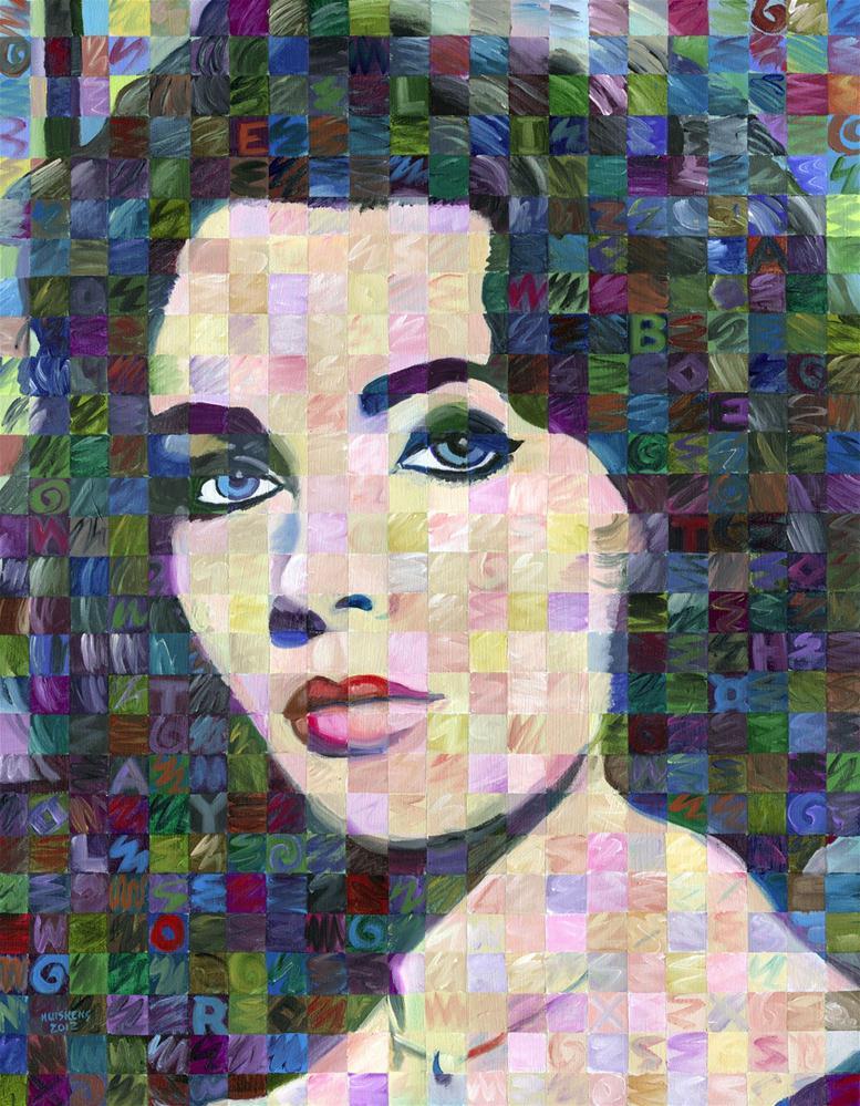 """Elizabeth Taylor"" original fine art by Randal Huiskens"