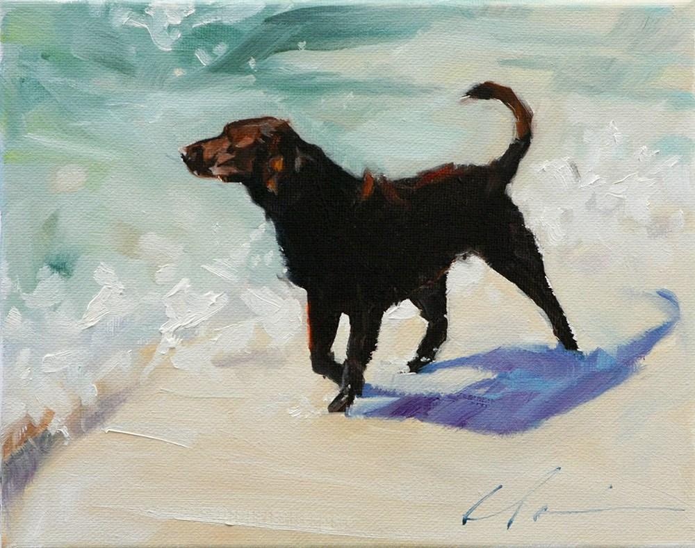 """The Daily Dog - Twenty Three"" original fine art by Clair Hartmann"