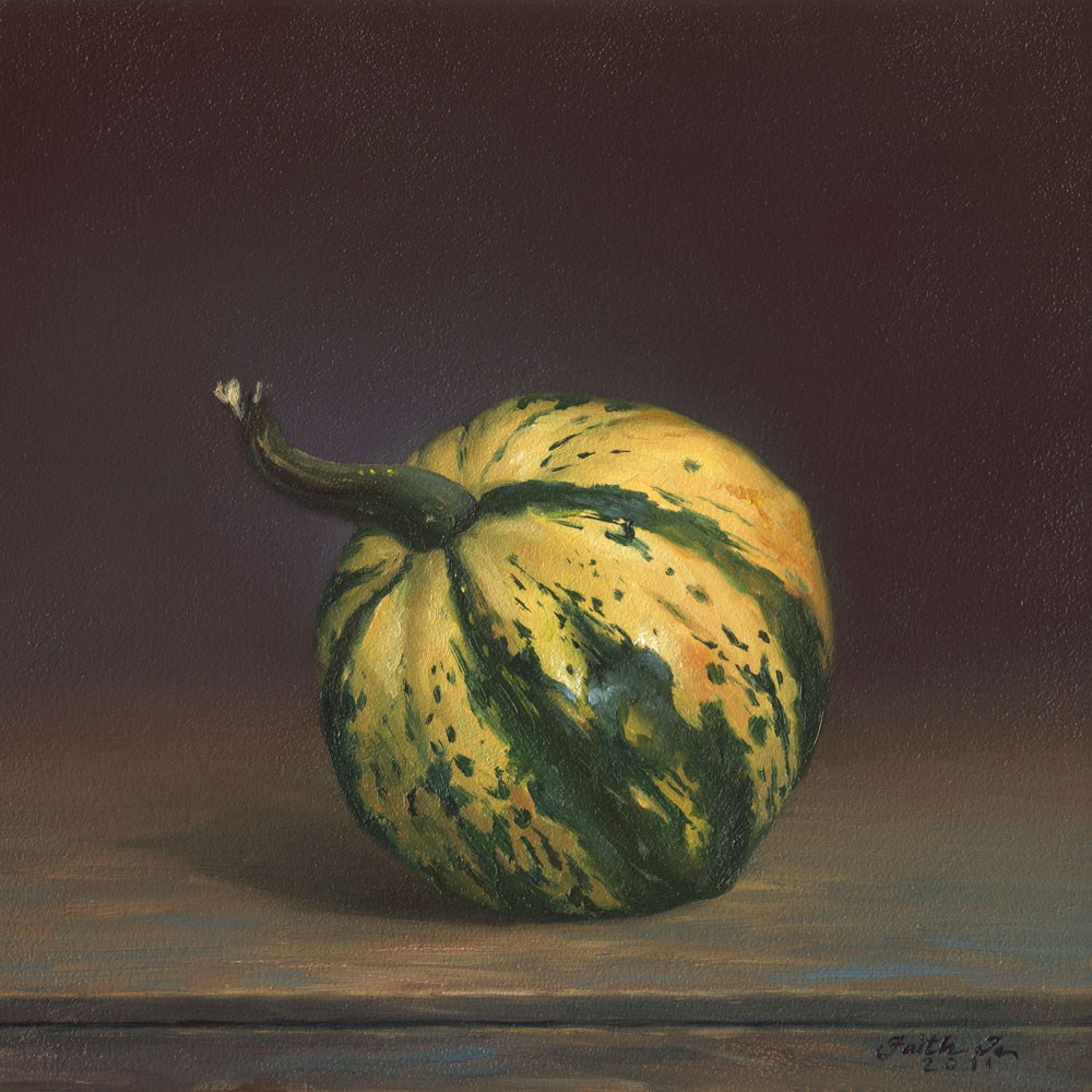 """Small Squash"" original fine art by Faith Te"