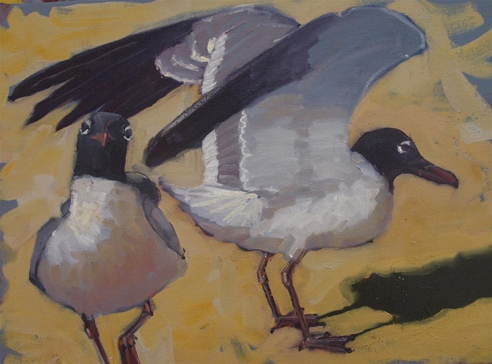 """Seagulls 2"" original fine art by Rick Nilson"