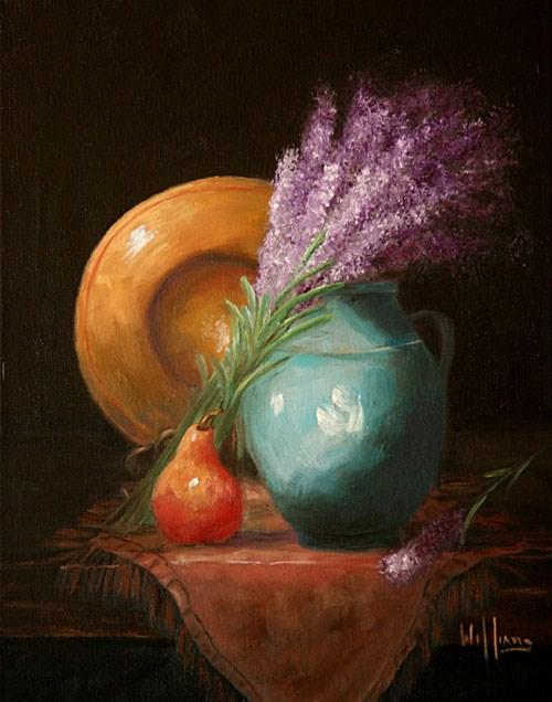 """Fresh Lavender"" original fine art by Sunny Williams"