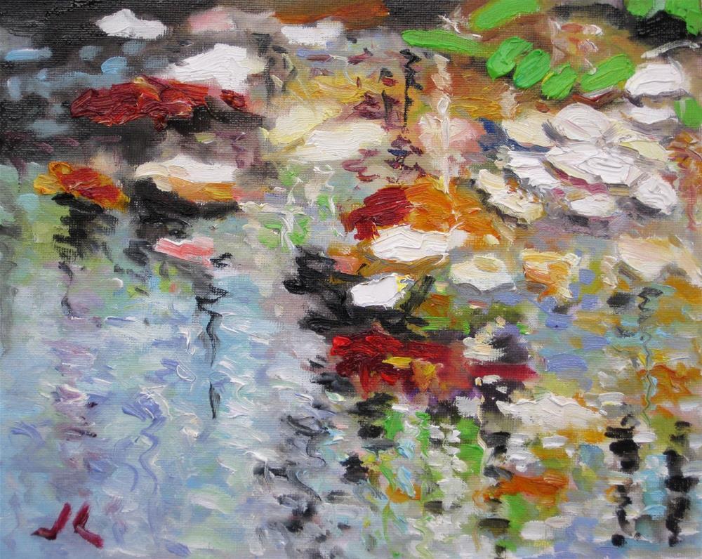 """""""Autumn Water"""" original fine art by Julia Lu"""