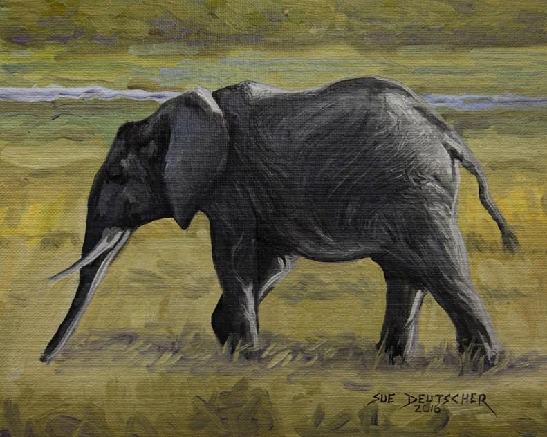 """""""Moseying Around the Savannah"""" original fine art by Sue Deutscher"""