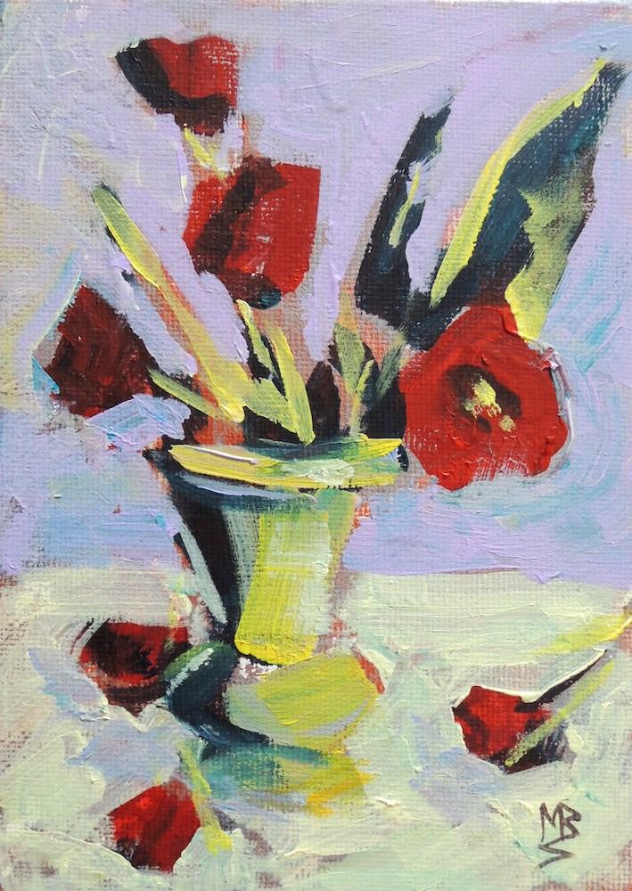 """Sprinkles og Red"" original fine art by Mary Schiros"