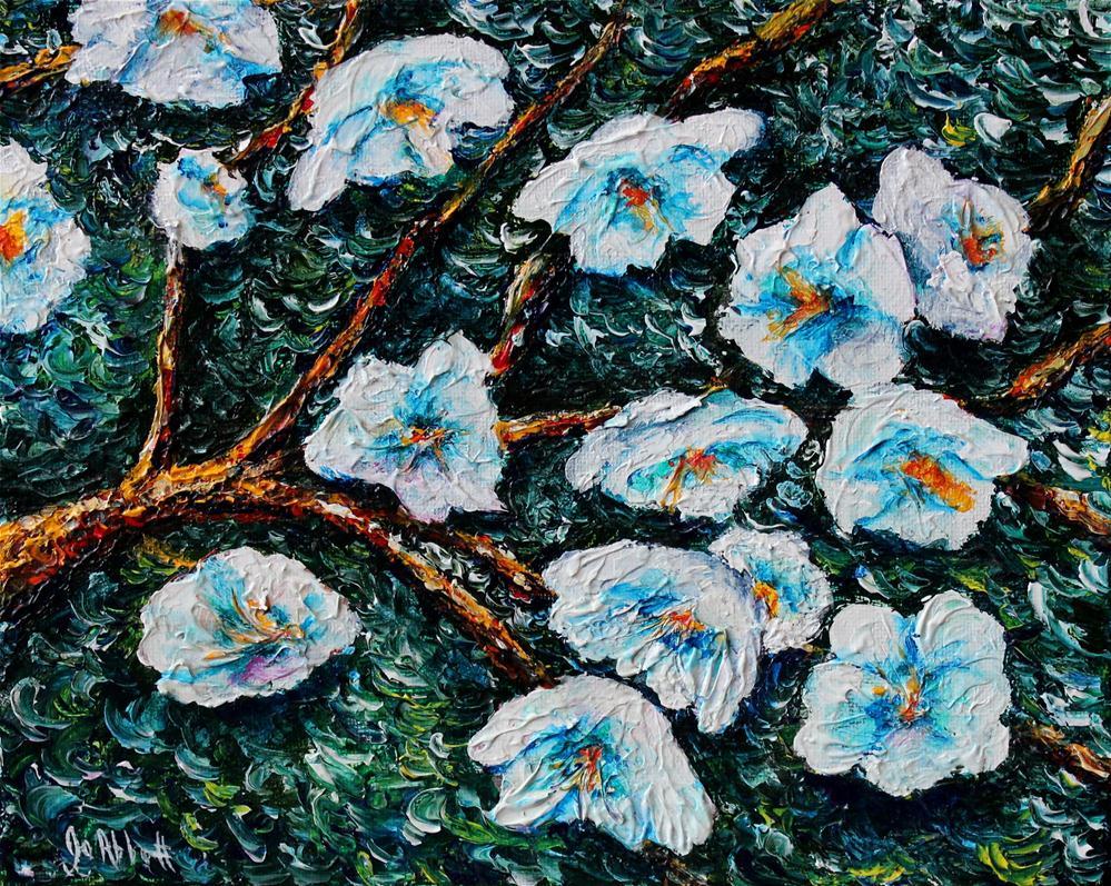 """""""Apple Blossom"""" original fine art by Joanne Abbott"""