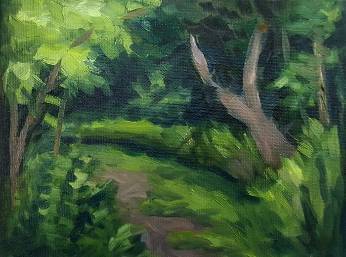 """An Overgrown Path"" original fine art by J M Needham"