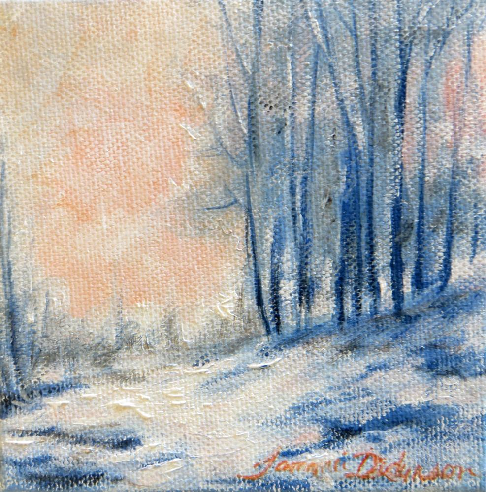 """January Glow"" original fine art by Tammie Dickerson"