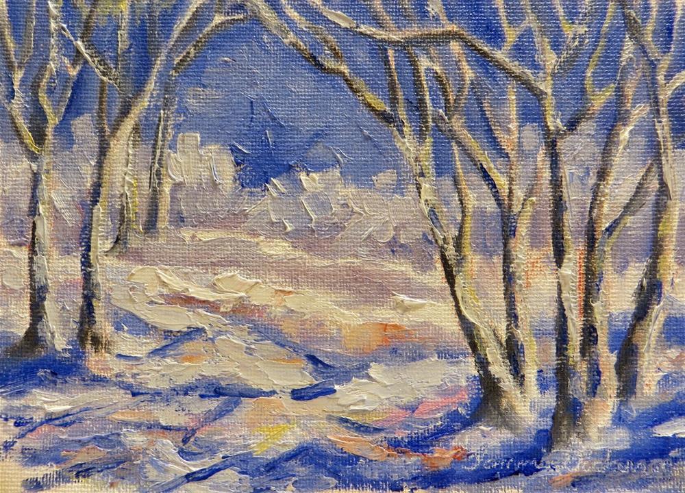 """Blues of Winter"" original fine art by Tammie Dickerson"