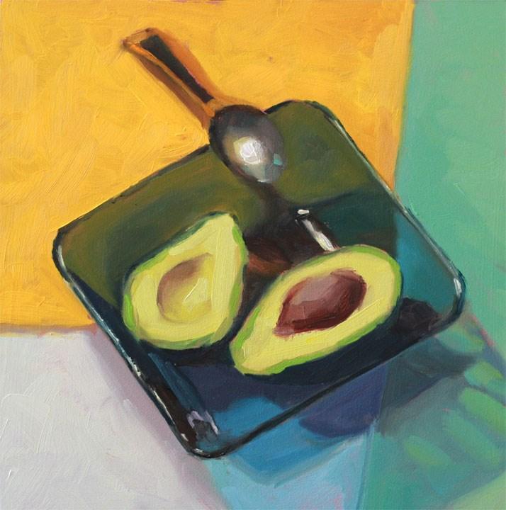 """Fat in Half"" original fine art by Nealy May Riley"